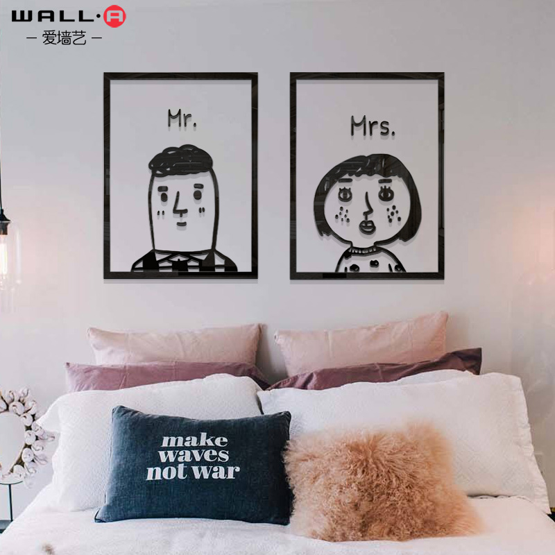 USD 8.82] Simple fresh frame Wall Stickers children\'s room bedroom ...