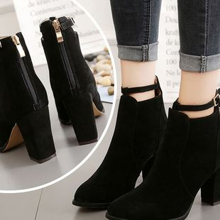 Women's winter boots shoe ladies high heels shoes женщина женщина из ботинки