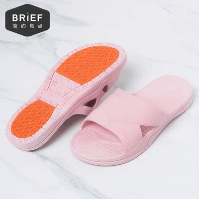 Home pregnant women non-slip slippers elderly soft bottom summer home indoor ladies home bathroom bath sandals and slippers men