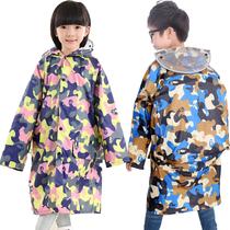 小孩雨披79中大童6小学生5女童8男童4岁儿童雨衣带包位153