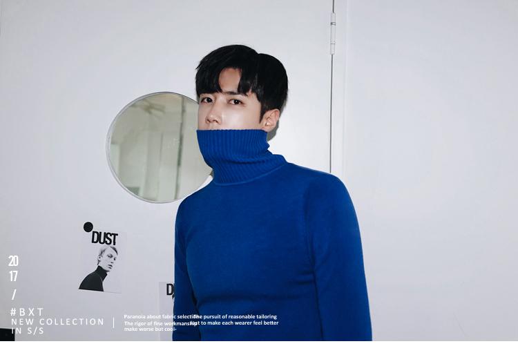 MRCYC nam cao cổ áo len Hàn Quốc Slim cao cổ đáy áo của nam giới thủy triều màu áo len
