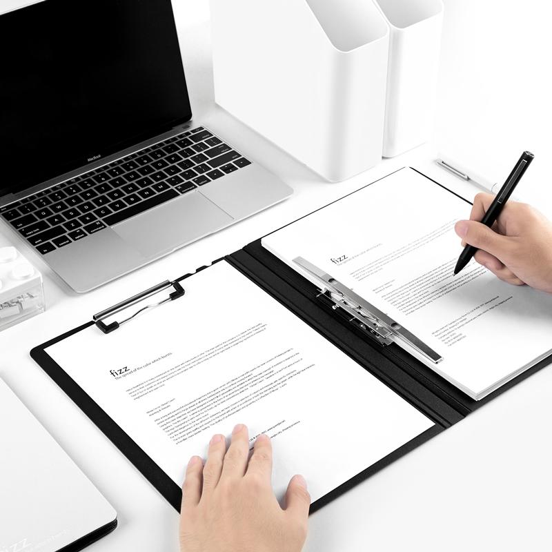 fizz文件夹神器a4书夹子试卷夹a4长押夹垫板收纳办公用品学生夹档案夹文具板夹写字试卷资料垫板整理文件