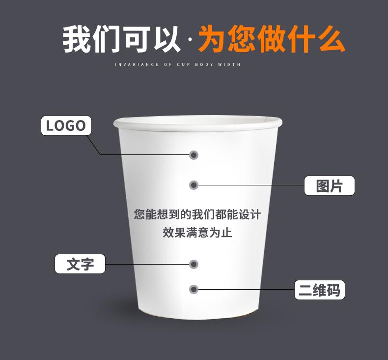 纸杯一次性杯子1000只装家用整箱批加厚结婚商用茶水杯定制印logo商品详情图