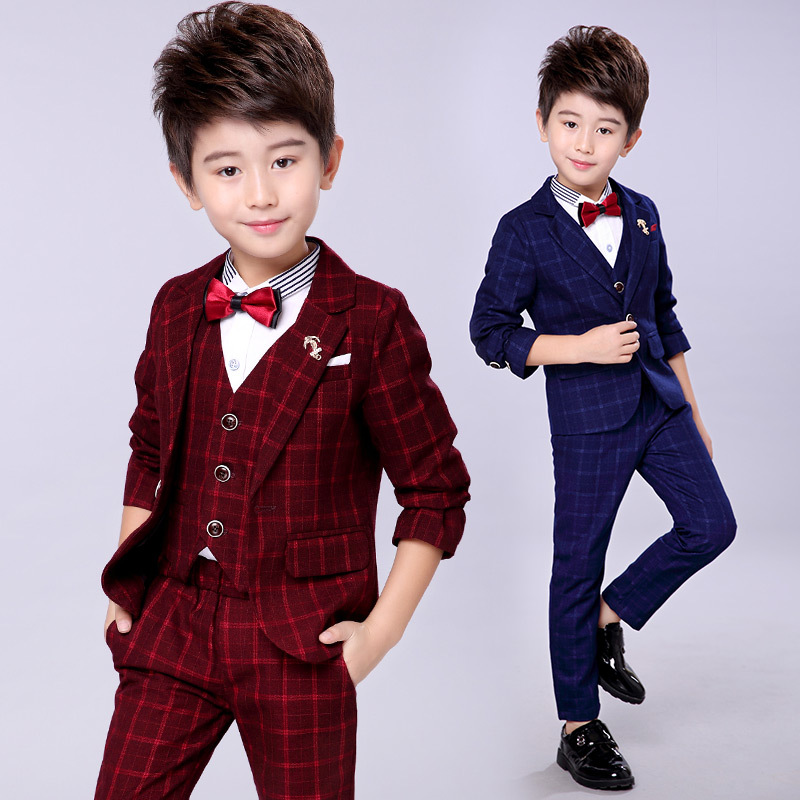 6fd03ced 4 children's small suit 5 boys 8-year-old Tide 6 autumn and winter flower  girl dress coat 7 handsome boy casual suit suit 3