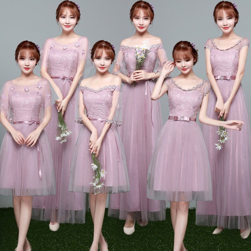 均码婚纱伴娘蕾丝服女士风中长款吊带抹胸公主宽松中长韩版v婚纱