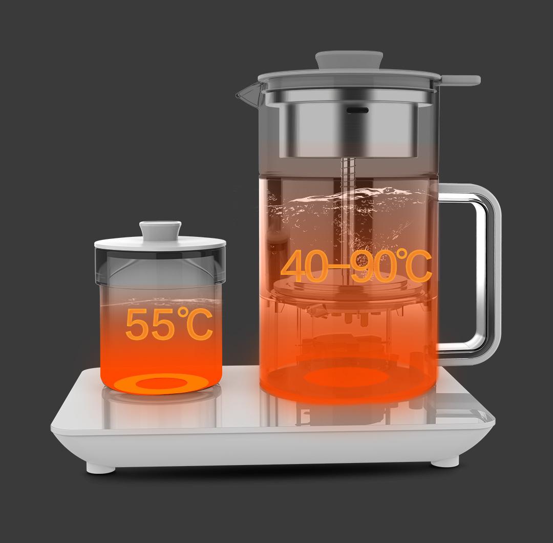 云米瞬热型蒸汽喷淋煮茶器办公室小型泡茶炉套装养生快煮壶详细照片