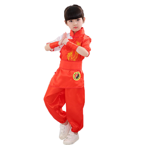 Boys Martial arts Kungfu & Tai-Chi Uniforms for Girls Children martial arts clothing primary school growth short sleeve children Chinese kung fu training clothes boys and girls children dance performance clothes