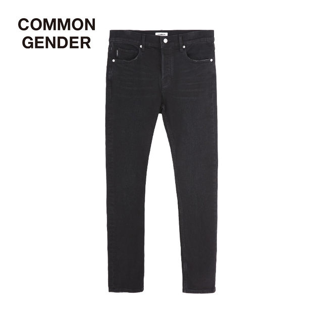 MOCO men's CG brand fashion stretch all-match black long pants jeans men's trendy brand Slim feet