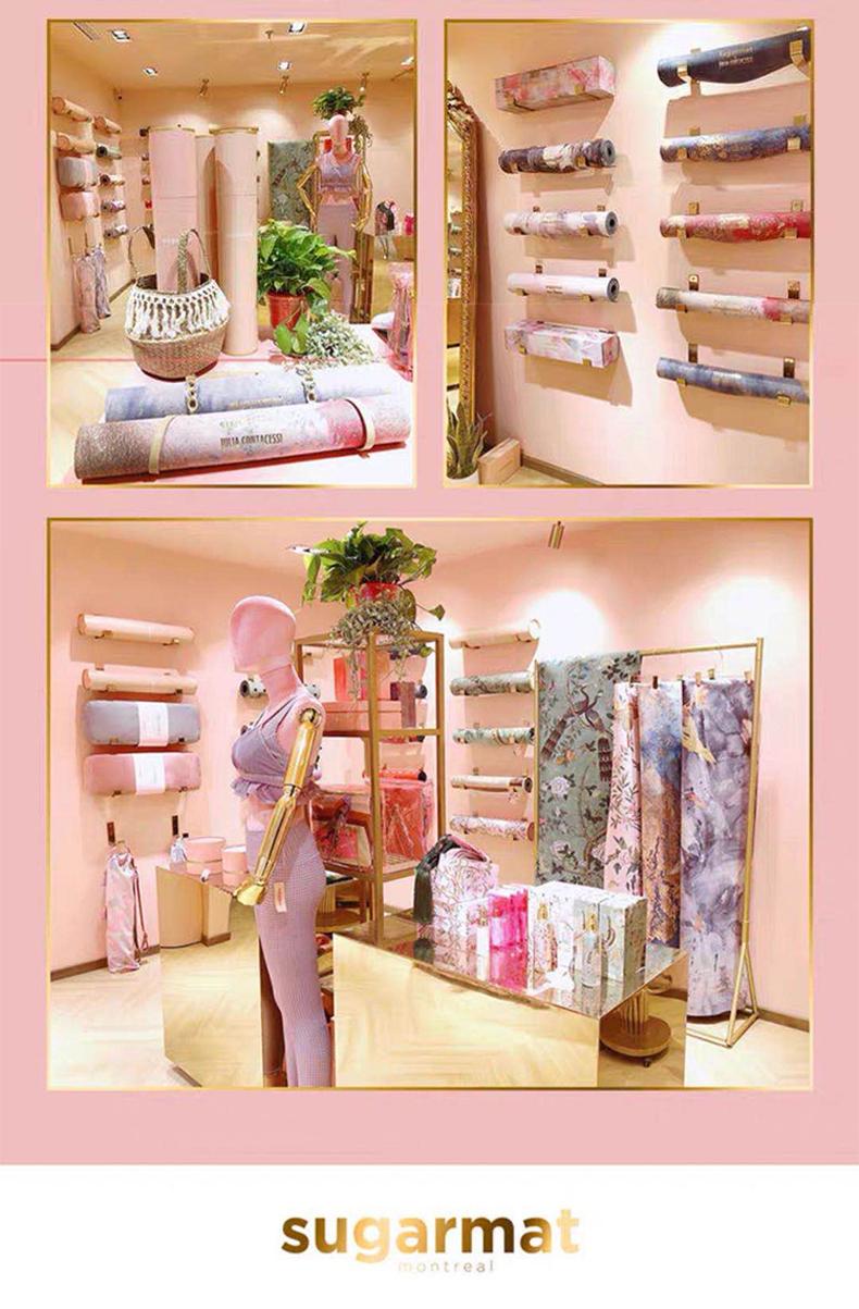 sugarmat天然橡胶瑜伽垫ins风专业高温健身垫地垫3mm粉色追梦者商品详情图