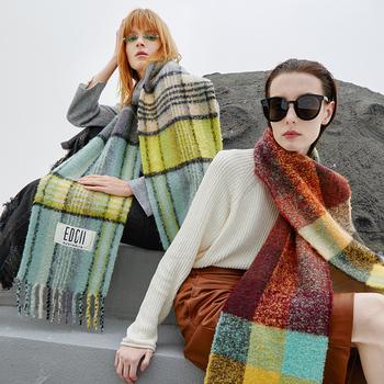 EDGII2020 новый осенне-зимний тёплый милый шерсть зефир шарф девушка дикий шаль, цена 4599 руб