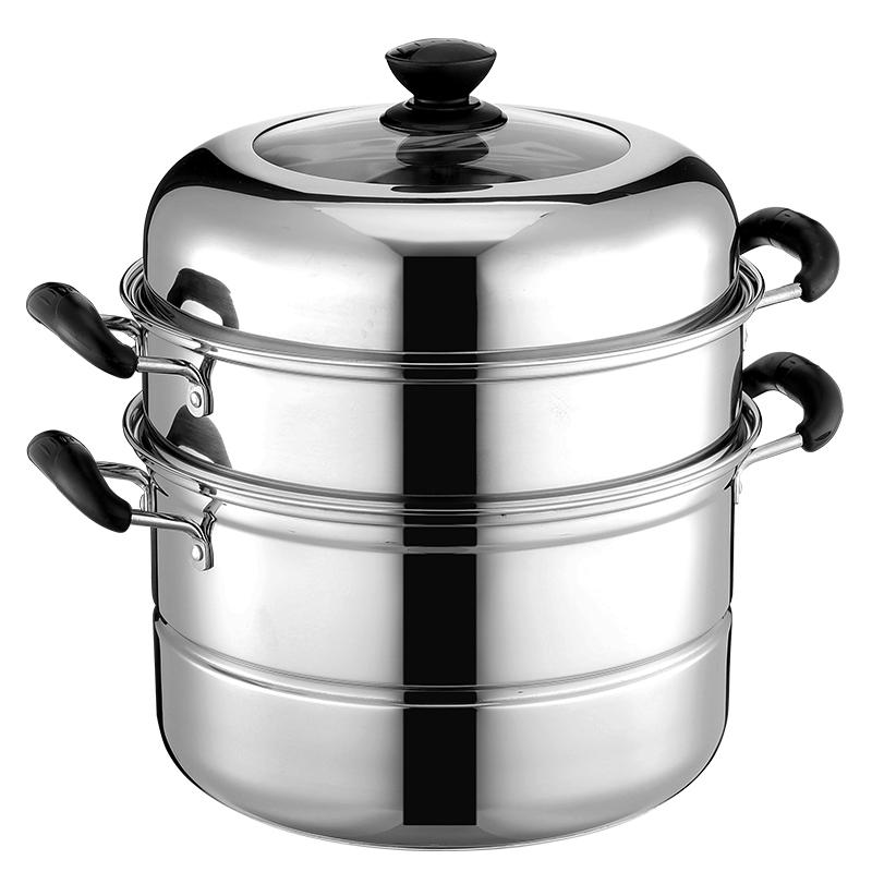 【好佳品】蒸锅不锈钢家用两层锅