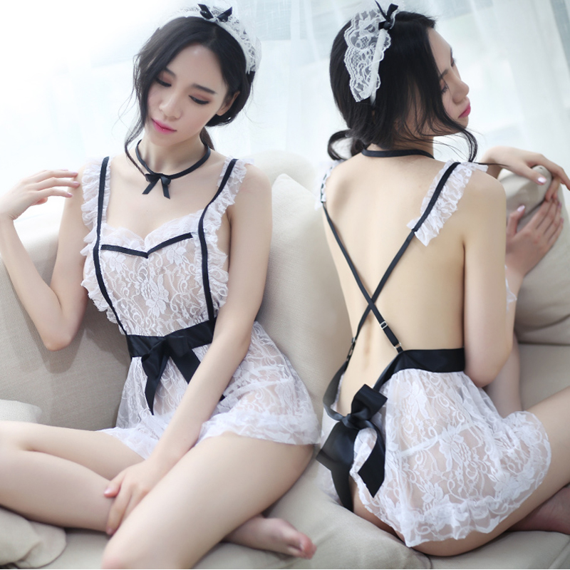 Sexy lingerie passion set cute uniform temptation Super Sao small chest sexy maid outfit transparent Midnight Charm