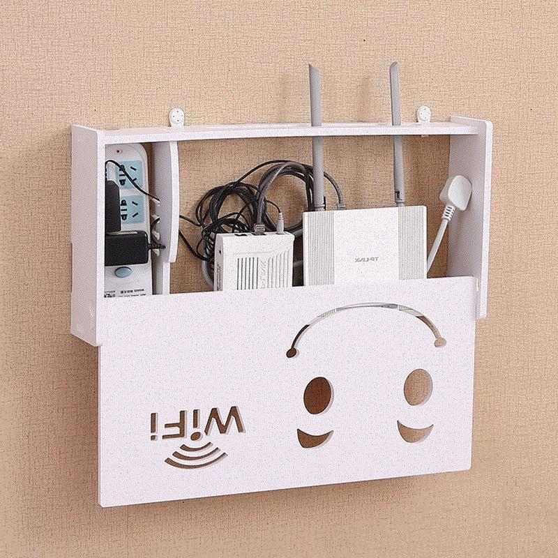 和猫置物架路由器v壁挂盒壁挂电视墙理线器无线猫挂墙式宽带猫无限