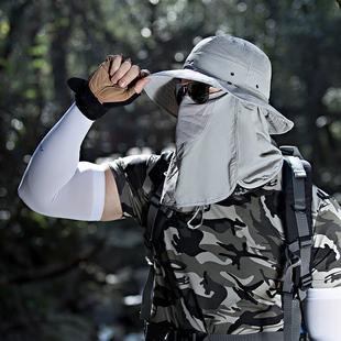 【店铺爆款】登山遮脸防紫外线遮阳帽