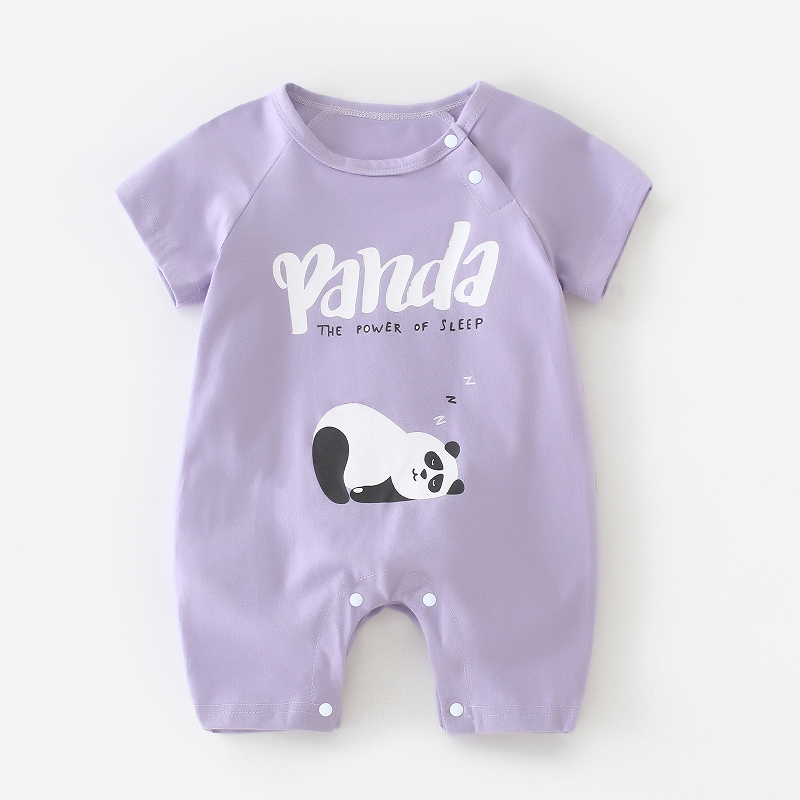Short Sleeve Light Purple Panda