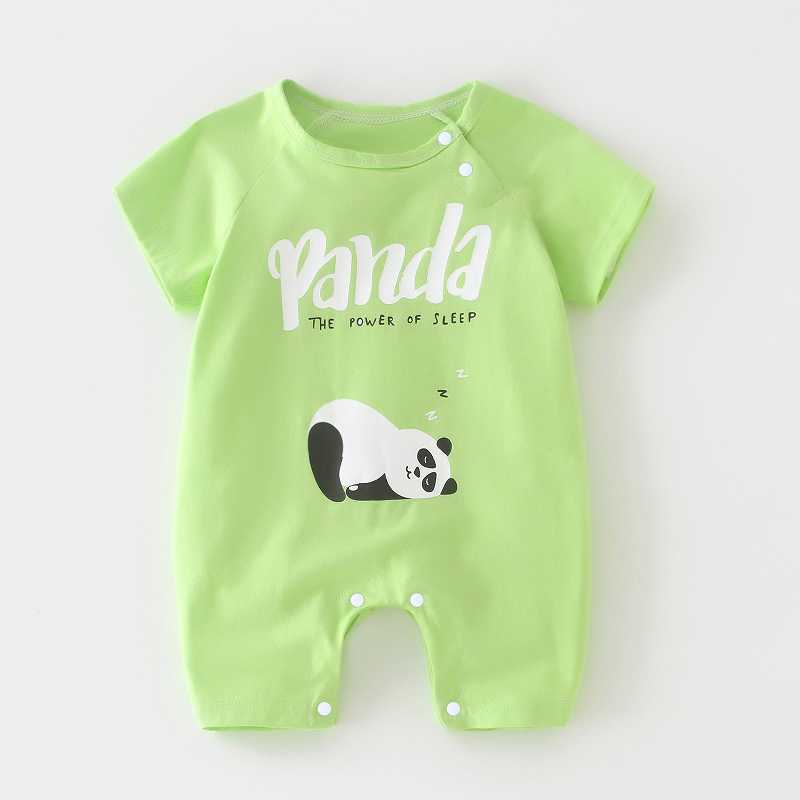 Short Sleeve Light Green Panda