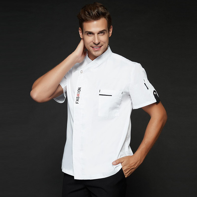 Castle Hill chef clothes white red black chef men's clothes Chinese style kitchen Western Hotel long-sleeved autumn and winter