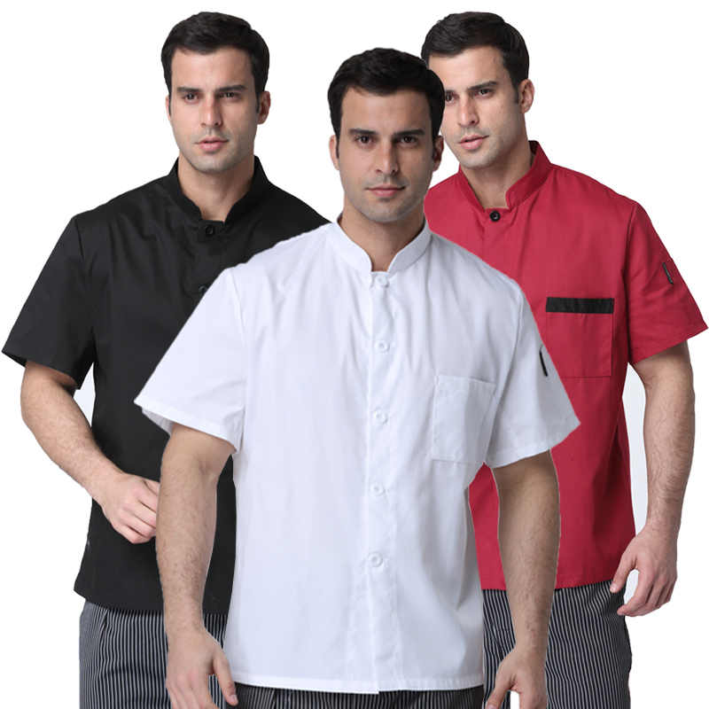 Castle Hill chef clothing to increase the food after the chef overalls short-sleeved summer thin section of the kitchen clothes men and women