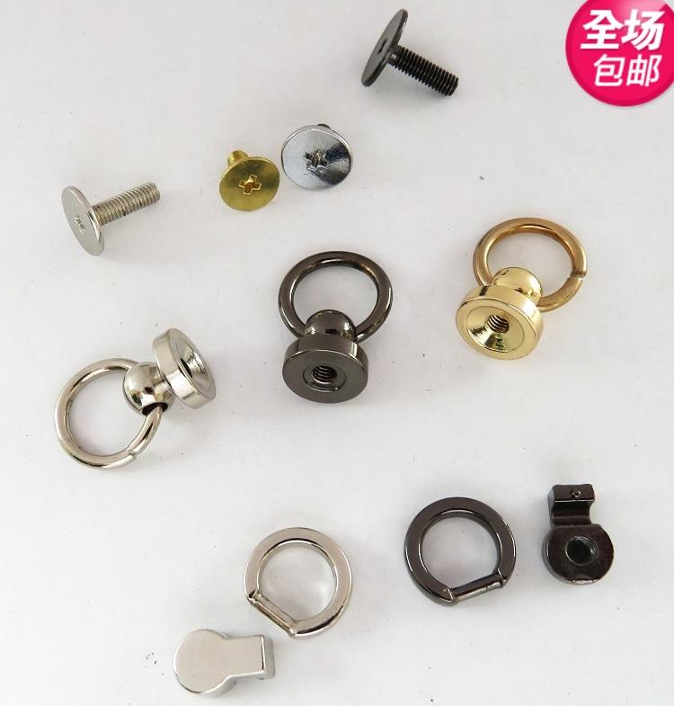 Hành lý của phụ nữ mang vòng vít xử lý xử lý dây đeo vai che đầu vàng bạc khóa đen với vòng nắp túi phụ kiện phần cứng - Phụ kiện hành lý