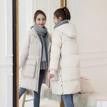 冬季羽绒棉服女中长款外套