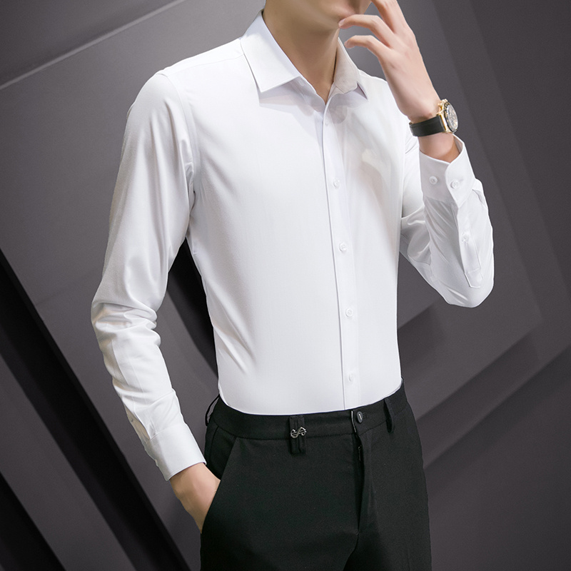 春季上衣长袖衬衫男商务休闲男士衬衣