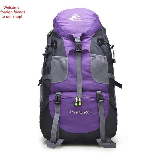 50L Men Outdoor Travel Big Backpack Foldable Hiking Bag Backpack