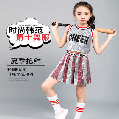 Girls Jazz Dance Costumes Costume Kindergarten Dance Costume Girl Cheerleading Skirt Jazz Show Costume