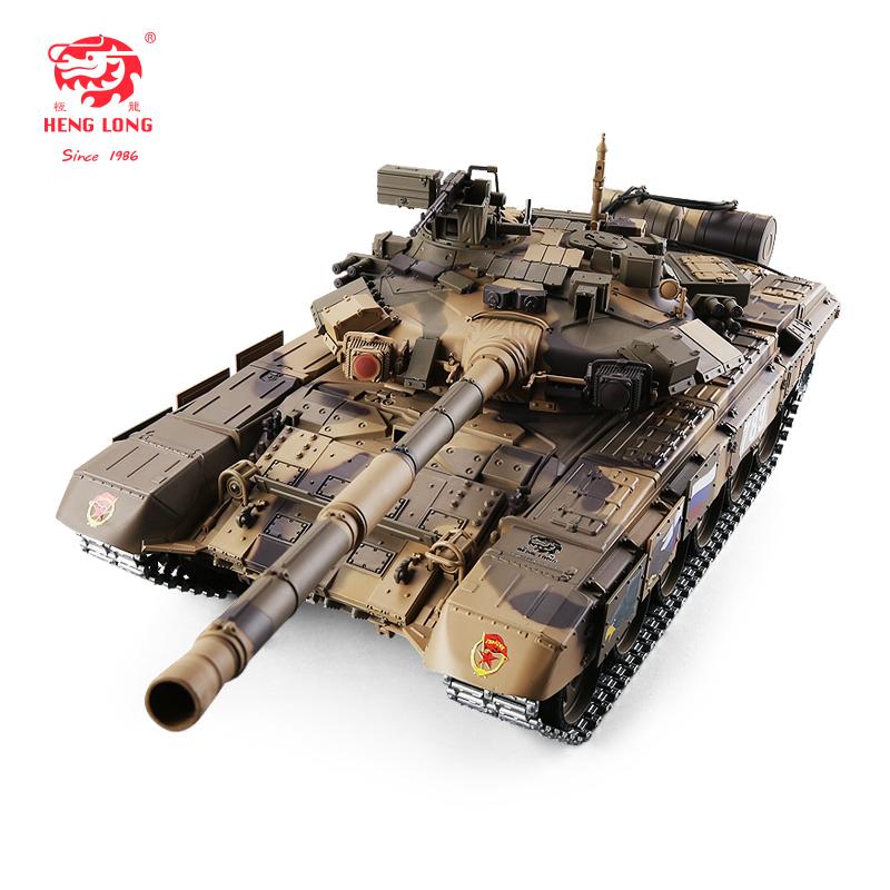 恒龍遙控主戰T90坦克金屬履帶式可發射軍事模型玩具電動越野車
