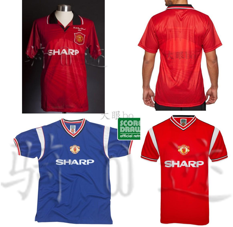 复古球衣曼Manchester联United夏普1985/1996主客场retro shirt