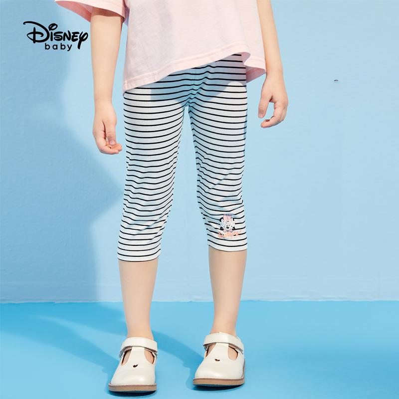 迪士尼女童裤子春秋2021新款外穿儿童打底裤薄款宝宝休闲裤洋气潮