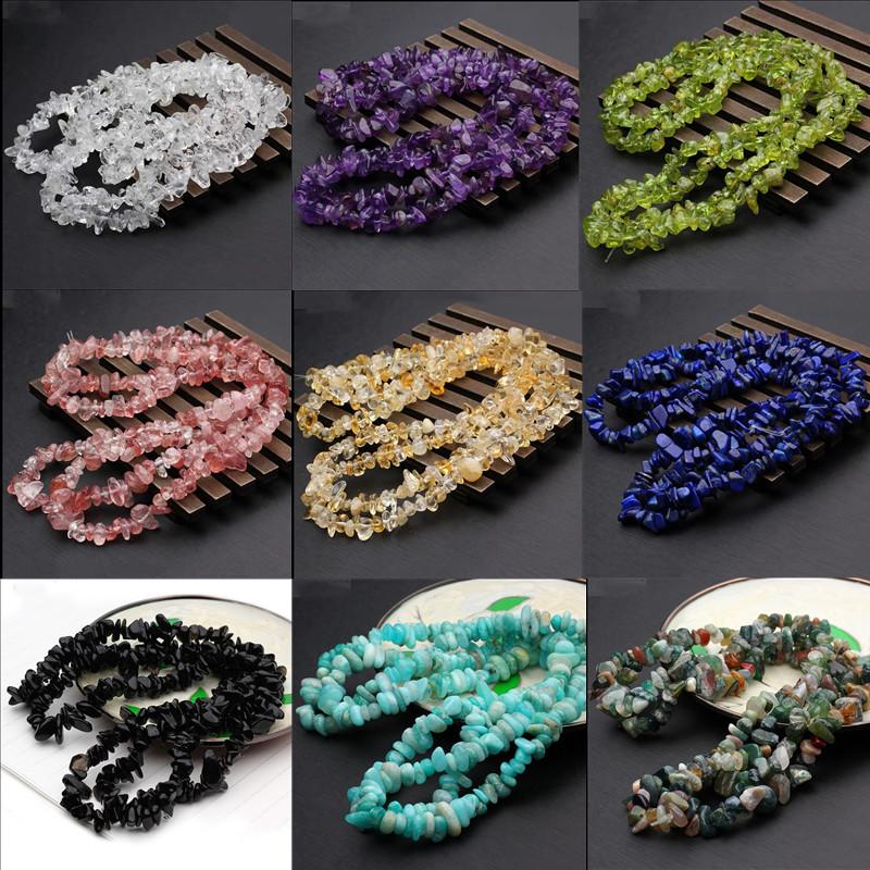 保真优质水晶石有孔手链情侣净化消磁石DIY饰品碎石配饰手工材料