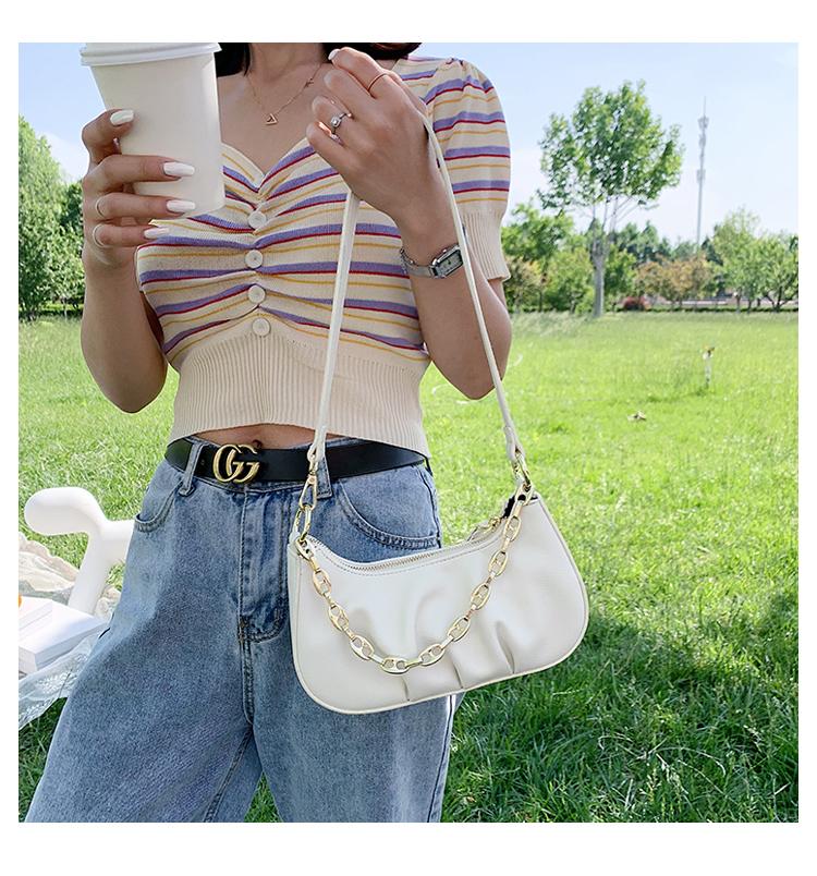 夏天法国小众包包女包流行新款潮时尚韩版百搭手提单肩腋下包详细照片