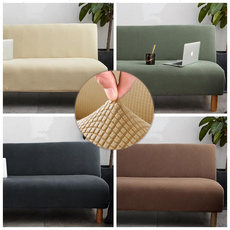 Folding sofa cover all-inclusive universal set without armrests sofa cover towel cover cloth red lazy universal sofa bed cover