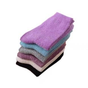 【保暖羊毛袜】加厚纯色系一盒4双颜色随机