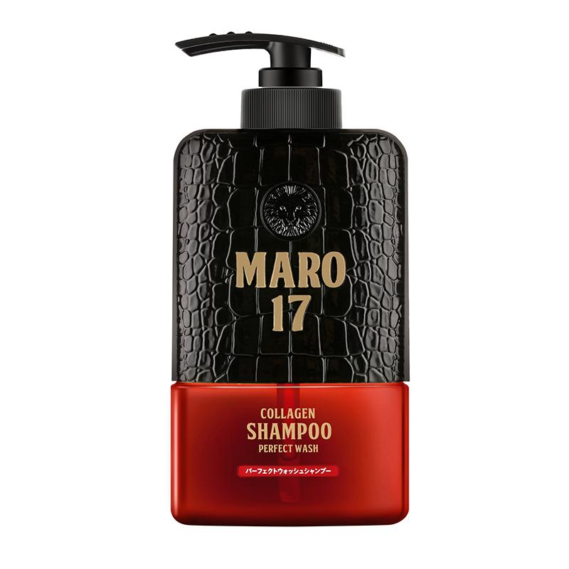 日本进口摩隆MARO17胶原蛋白洗发水清爽版 男士无硅油去屑洗发露