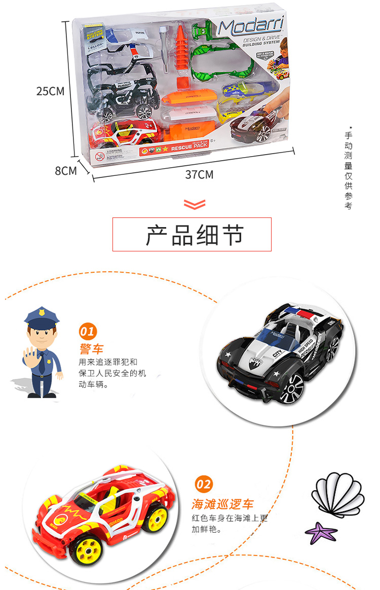 团妈推荐美国玩具组装车拼装汽车组装玩具车儿童新年礼物详细照片