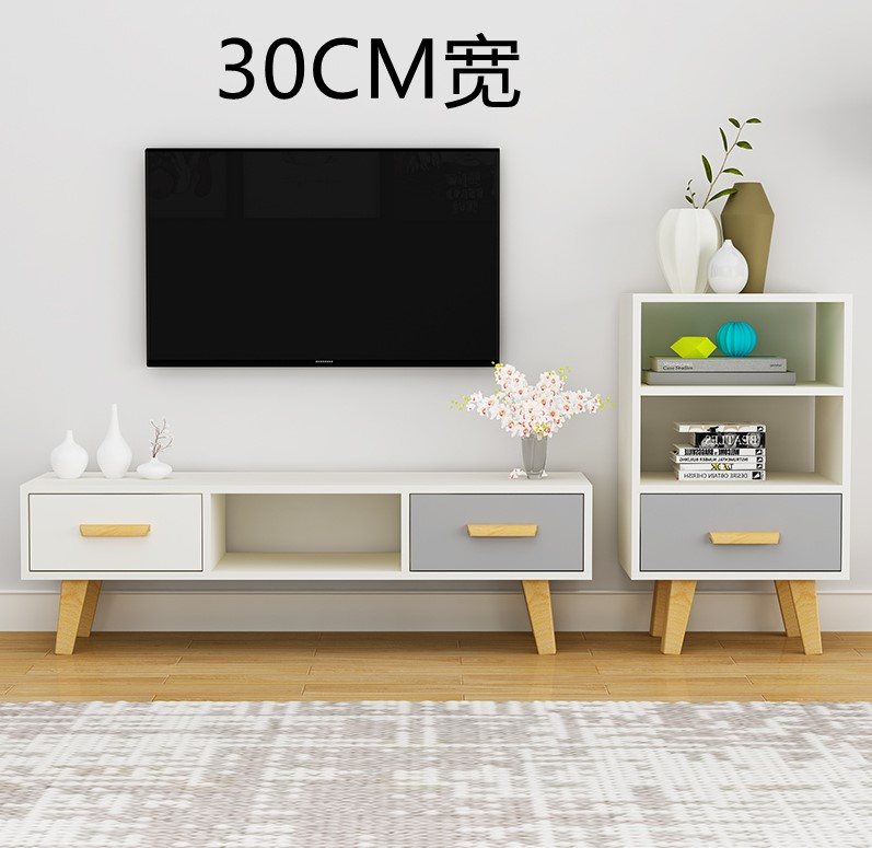 Very narrow TV cabinet narrow-side long strip against the wall ultra-thin floor model 4 small household machine 30cm wide simple modern mini 2.