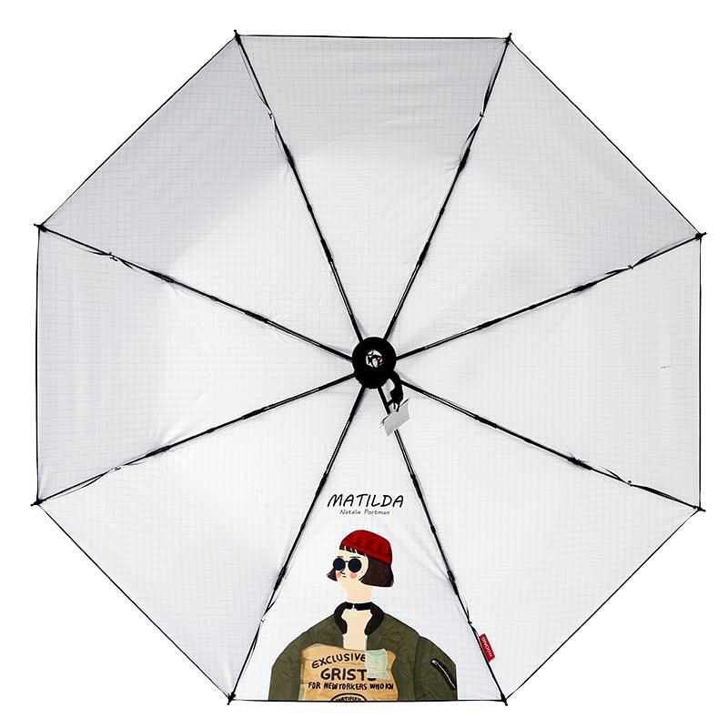 二次元雨伞这个杀手不太冷同款电影周边情侣防晒防紫外线女晴雨伞_天猫超市优惠券