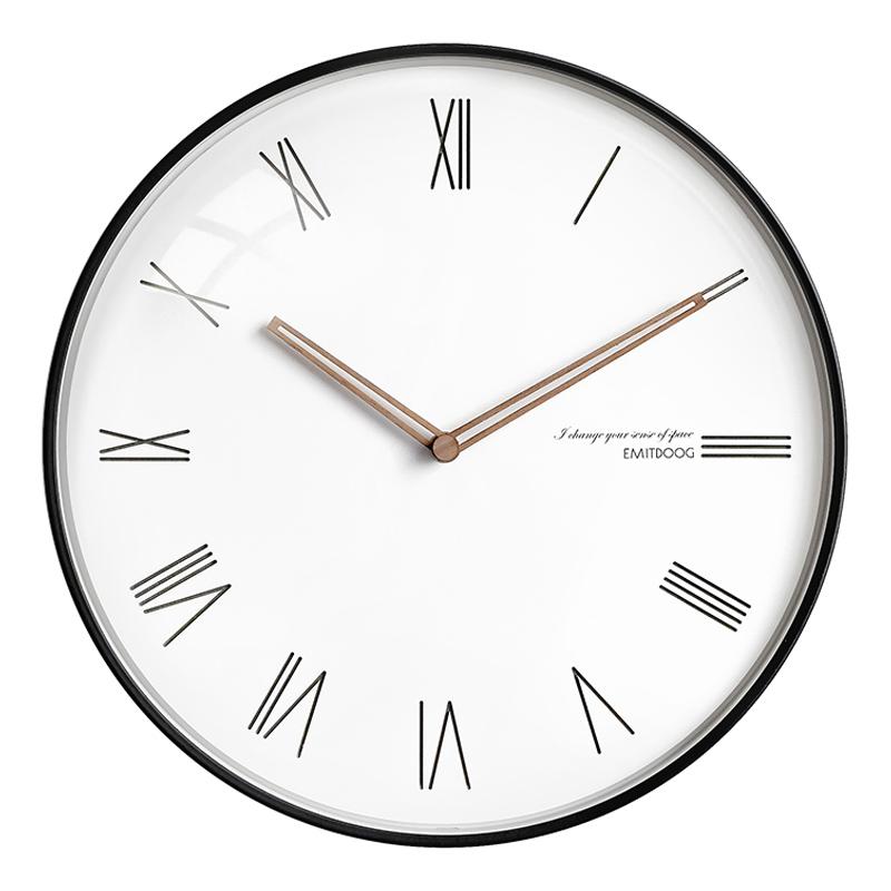超静音卧室家用客厅挂钟现代简约时尚北欧式时钟挂墙创意石英钟表