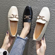 百搭仙女风小皮鞋一脚蹬豆豆鞋
