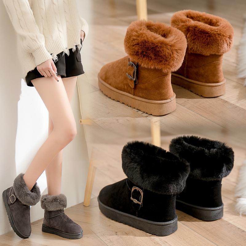 潮流百搭加绒加厚雪地靴
