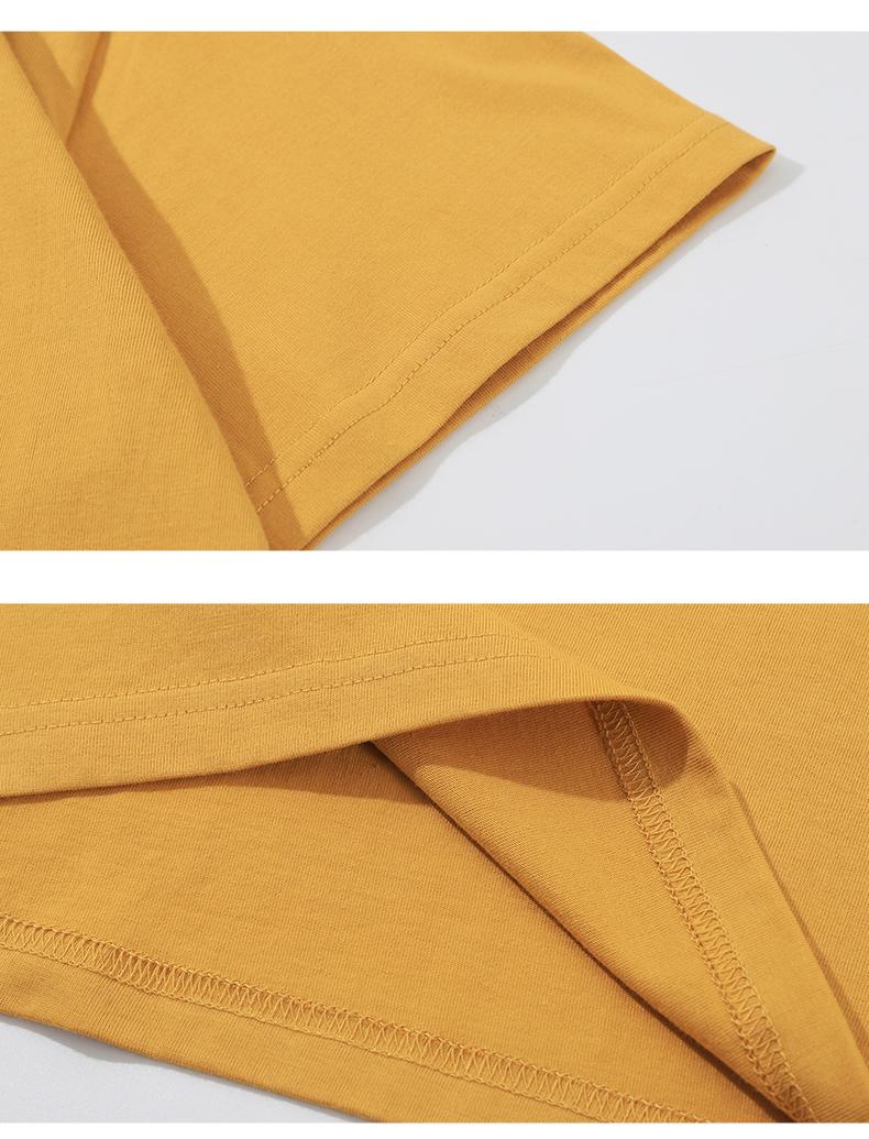 男士恤短袖新款夏季潮流纯棉纯色白宽鬆圆领半袖打底衫恤详细照片