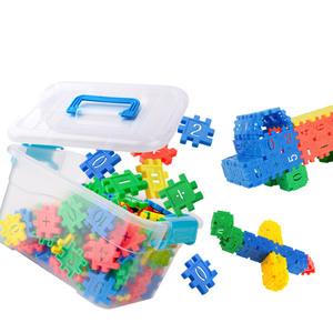 积木玩具3-6周岁4数字幼教塑料学习益智拼装男女儿童宝宝三岁以上