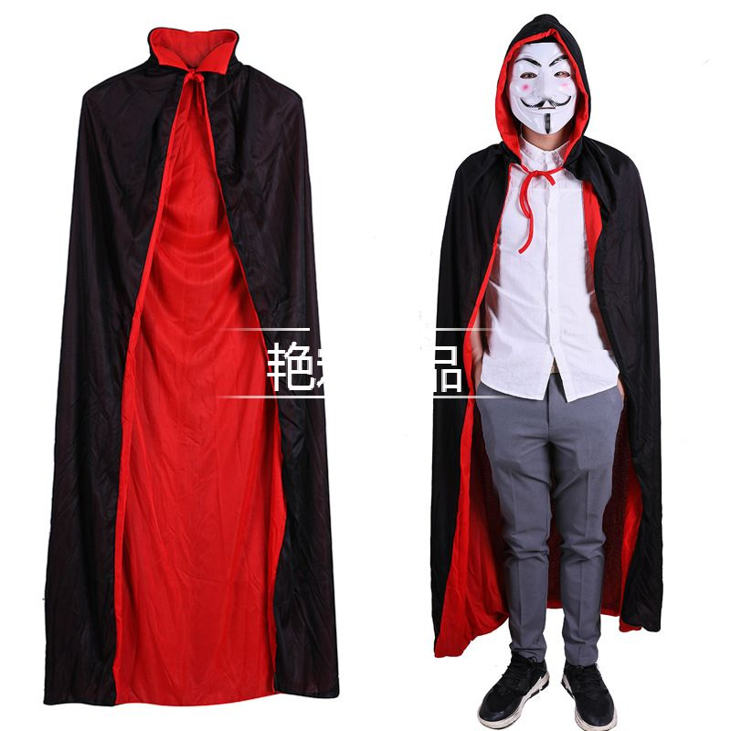 Stand Collar Double Cloak