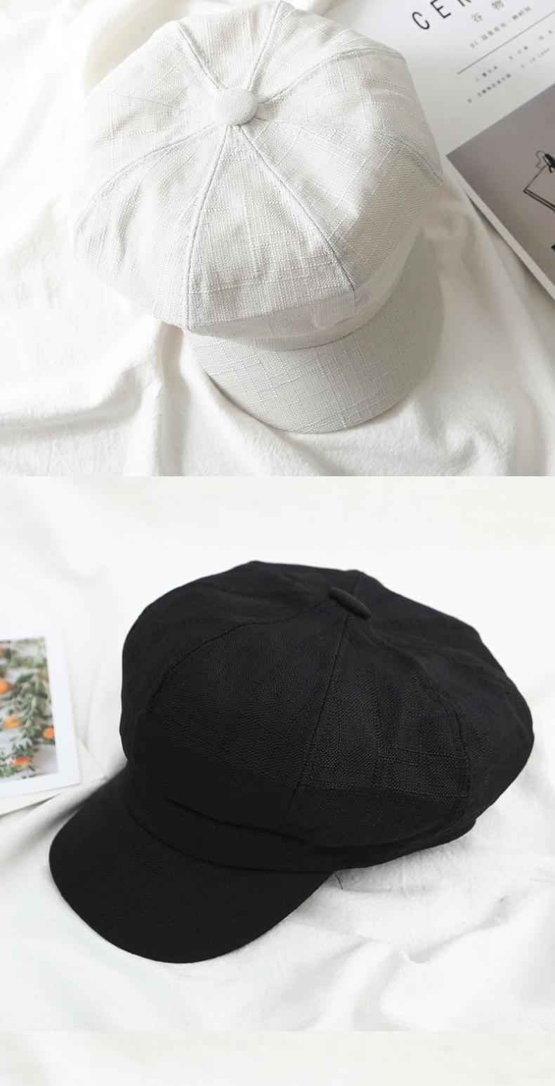 英伦复古百搭八角帽女潮男春夏季画家帽情侣遮阳帽薄款贝雷商品详情图