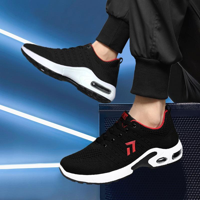夏季青年运动鞋轻便飞织男鞋透气耐磨跑步鞋