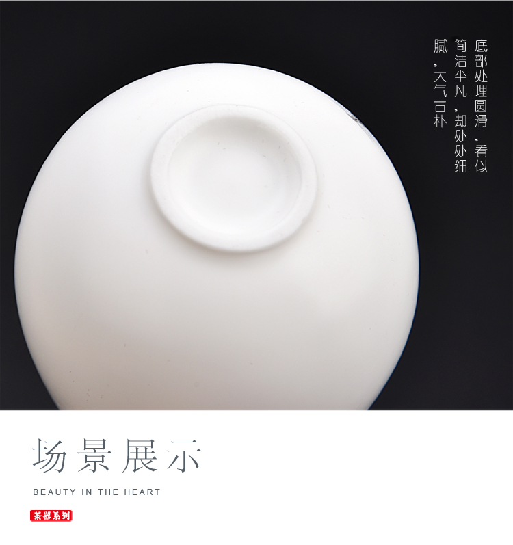 The ancient sheng up second hand sample tea cup white porcelain asked Buddha series Japanese tea contracted pervious to light thin body small tea cups