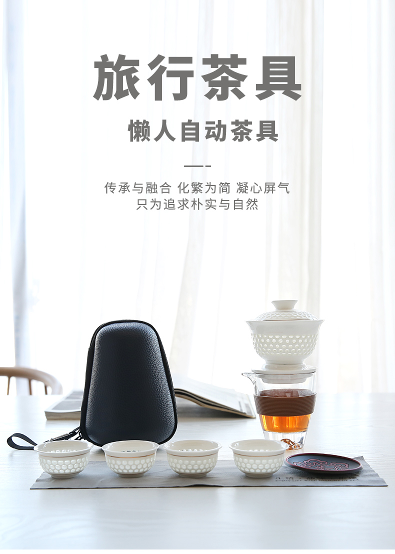 Violet arenaceous travel kung fu tea set portable lazy crack cup half full automatic tea ware office suit household