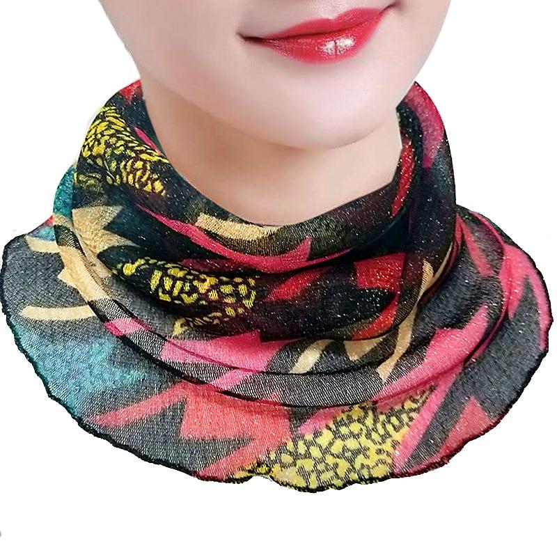 网红百变丝巾小围脖女套头挂耳面罩