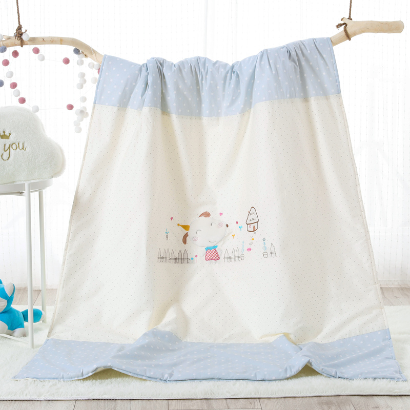 COTTON EMBROIDERED CHILDREN'S SUMMER QUILT - LITTLE GOAT